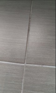 Grout Channel BEFORE Colour Seal Protection